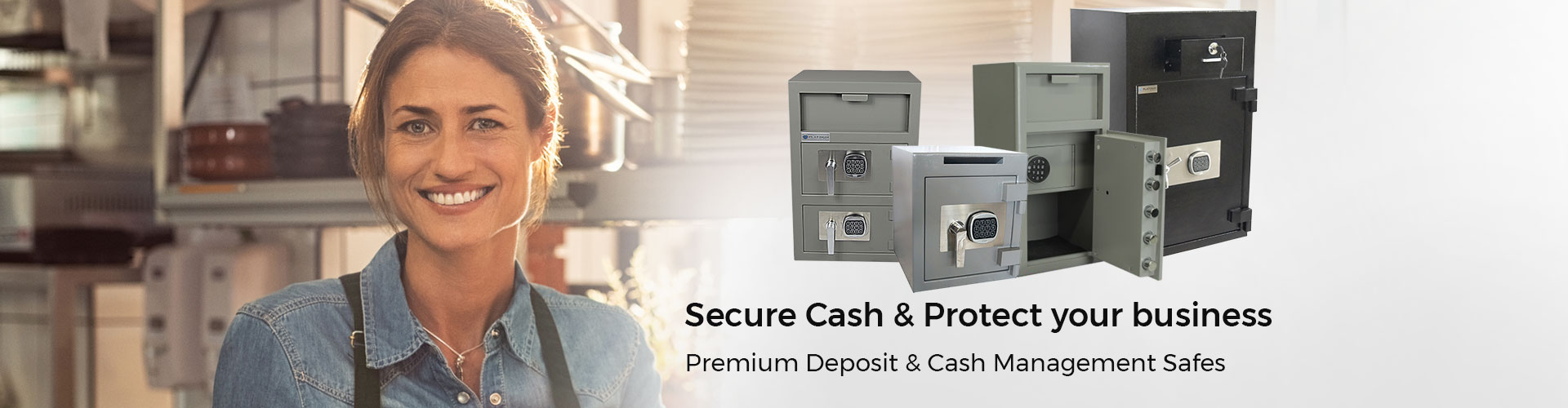 Secure cash and protect your business with premium deposit and cash management safes.